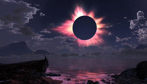 затменье солнца темнит небосвод